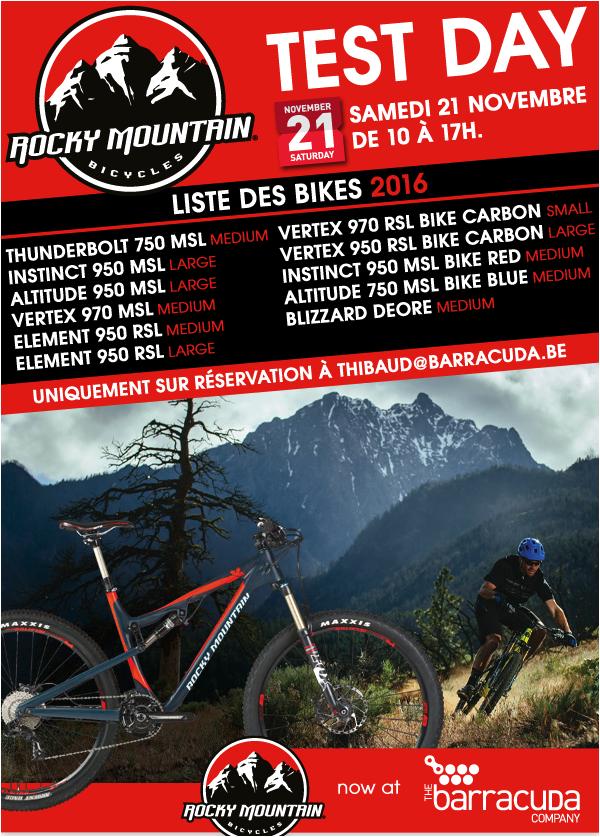 Venez essayer le Rocky Mountain de votre choix ce samedi 21 novembre !