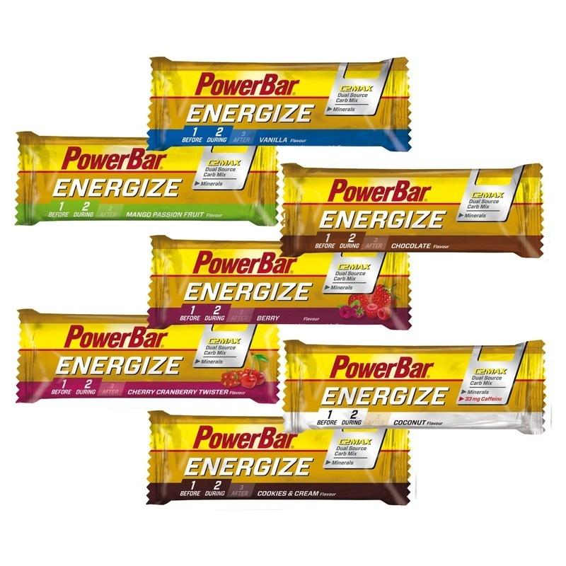 Boîte de 25 Barres Powerbar Energize C2Max