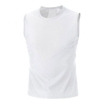 Sous-vêtement Gore Bike Wear sans Manches Base Layer Blanc