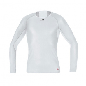 Gore Bike Wear Sous-vêtement Manches Longues Gore Bike Wear Base Layer WindStopper Gris/Blanc