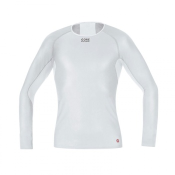 Sous-vêtement Manches Longues Gore Bike Wear Base Layer WindStopper Gris/Blanc