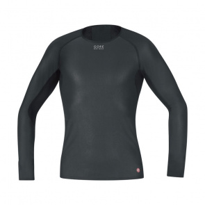 Gore Bike Wear Sous-vêtement Manches Longues Gore Bike Wear Base Layer WindStopper Noir