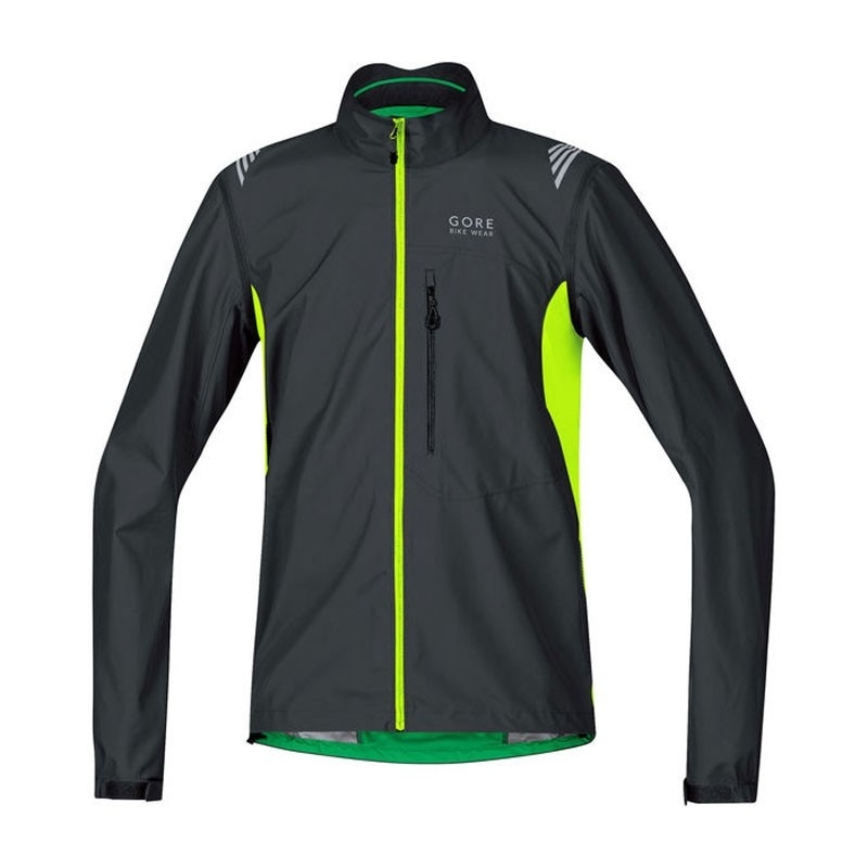 Veste Gore Bike Wear E WS AS Zip-Off Noir/Jaune Fluo