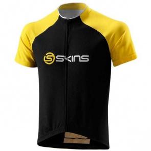 Skins Maillot Manches Courtes Skins Cycle Pro Noir/Jaune