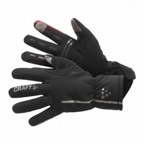 Craft Craft Siberian Handschoenen Zwart/Rood
