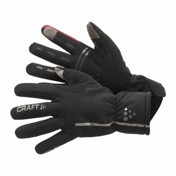 Gants Craft Siberian Noir/Rouge