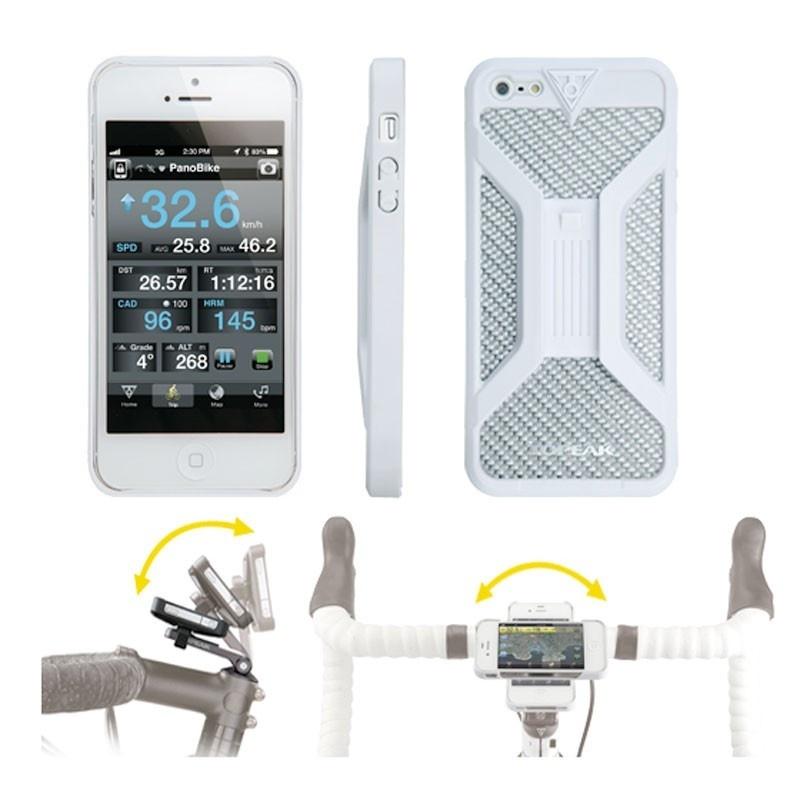 Coque de Protection Topeak RideCase II pour iPhone 4 et 4S Blanc