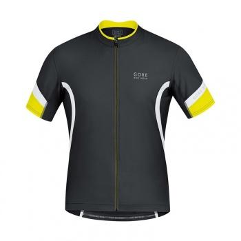 Maillot Manches Courtes Gore Bike Wear Power 2.0 Noir/Blanc
