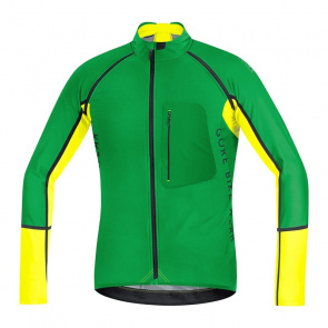Gore Bike Wear Maillot Manches Longues Gore Bike Wear Alp-X Pro WS SO Zip-Off Vert/Jaune