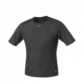 Gore Bike Wear Sous-vêtement Manches Courtes Gore Bike Wear Base Layer Windstopper Noir