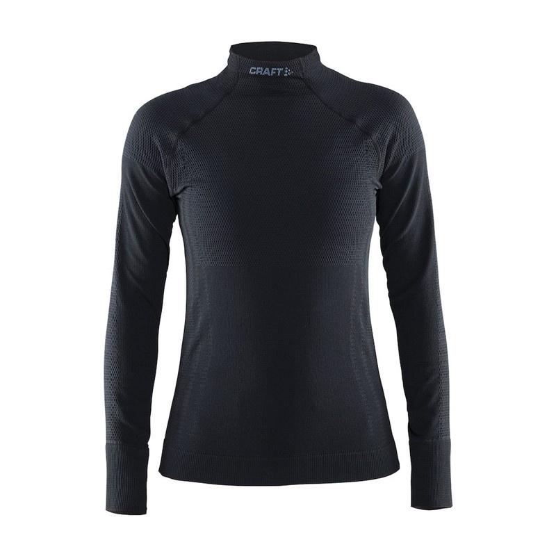 Sous-Vêtement Manches Longues FEMME Craft Warm Half Polo Noir 2017