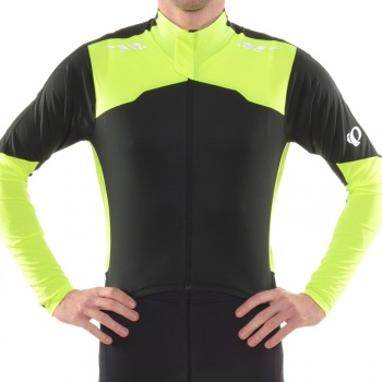Maillot Manches Longues Pearl Izumi Pro Aero Noir/Jaune Screaming