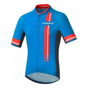 Shimano Bike Gear Maillot Manches Courtes Shimano Performance Print Bleu