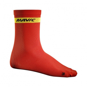 Mavic textile Chaussettes Mavic Cosmic High Rouge Racing 2016