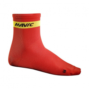 Mavic textile Chaussettes Mavic Cosmic Mid Rouge Racing 2016