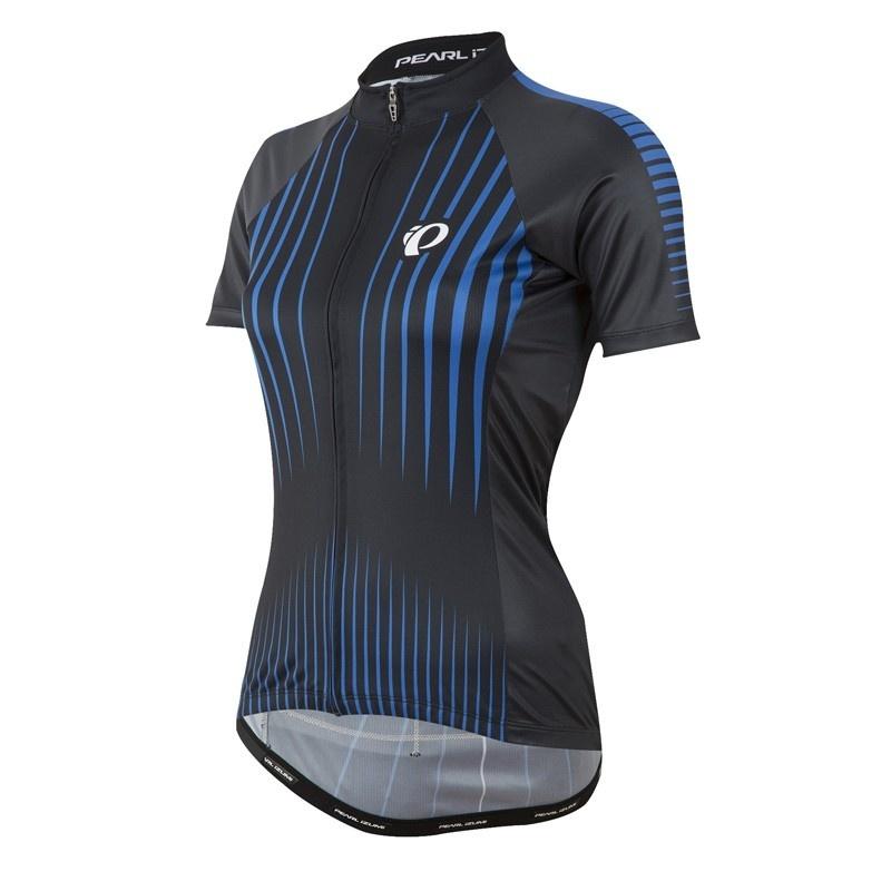 Pearl Izumi Elite Pursuit Shirt met Korte Mouwen Zwart/Sky Blauw