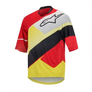 Maillot Manches 3/4 Alpinestars Depth Rouge/Blanc 2017