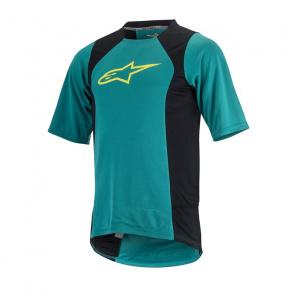Alpinestars Alpinestars Drop 2 Shirt met Korte Mouwen Groen/Geel 2017