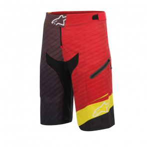 Alpinestars Short Alpinestars Depth Rouge/Jaune 2017