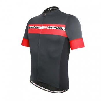 Maillot Manches Courtes ZeroRH+ Academy Anthracite/Rouge 2016