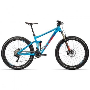 "Cube Stereo 150 HPA SL 27.5""+ MTB Blauw/Rood 2016"