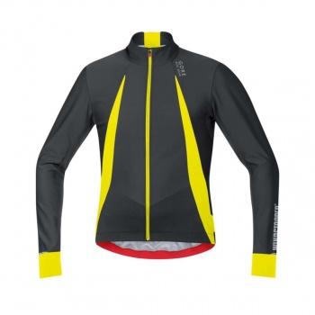 Maillot Manches Longues Gore Bike Wear Oxygen Noir/Jaune Neon