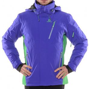 Salomon Veste de Ski Salomon Iceglory Bleu Spectrum/Vert Bud
