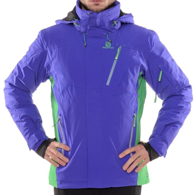 Veste de Ski Salomon Iceglory Bleu Spectrum/Vert Bud