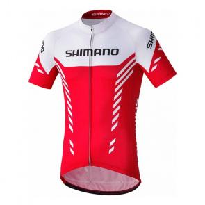 Shimano Bike Gear Maillot Manches Courtes Shimano Print Rouge