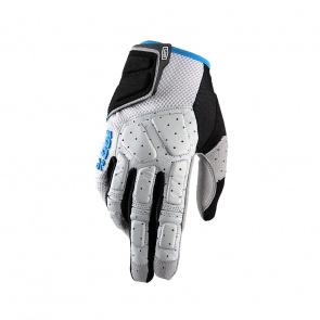 100% 100% Simi Handschoenen Grijs/Cyan