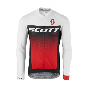 Scott textile Maillot Manches Longues Scott RC Pro Blanc/Rouge 2017