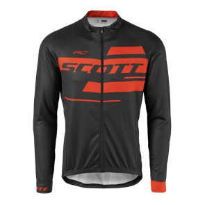 Scott textile Maillot Manches Longues Scott RC Team 10 Noir/Orange Tangerine 2017