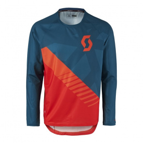 Scott textile Scott Trail 20 Shirt met Lange Mouwen Blauw/Rood 2017