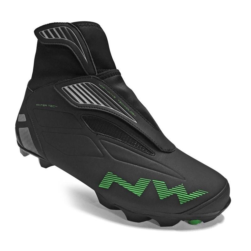 Chaussures VTT Northwave Husky Winter Tech Noir/Vert 2019-2020