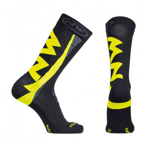 Northwave Chaussettes Northwave Extreme Winter High Noir/Jaune Fluo 2017