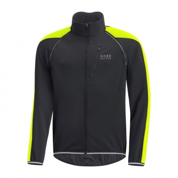 Veste Gore Bike Wear Phantom Plus GWS ZO Noir/Jaune Neon 2017