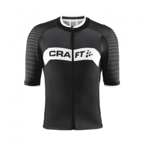 Craft Maillot Manches Courtes Craft Gran Fondo Noir/Blanc 2017