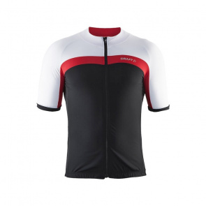 Craft Maillot Manches Courtes Craft Velo Noir/Rouge Bright/Blanc 2017