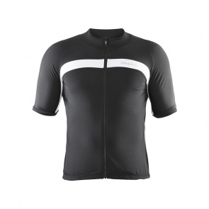Craft Maillot Manches Courtes Craft Velo Noir/Blanc 2017