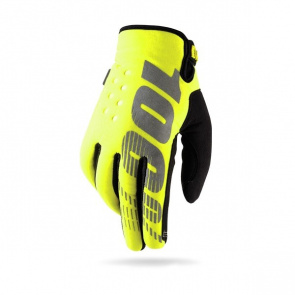 100% Gants 100% Brisker Winter Jaune 2017