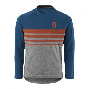 Scott textile Scott Junior Trail Dri 40 Shirt met Lange Mouwen voor Kinderen Blauw/Grijs 2017