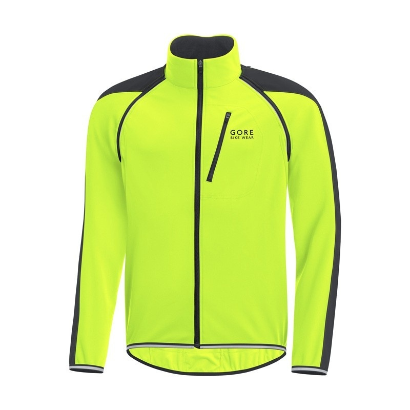 Gore Bike Wear Phantom Plus GWS ZO Jas Neon Geel/Zwart