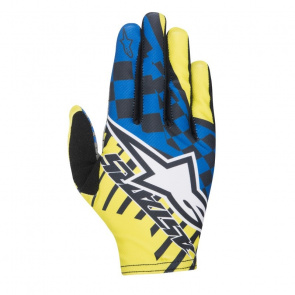 Alpinestars Gants Alpinestars F-Lite Speedster Jaune Acid/Bleu Royal 2017