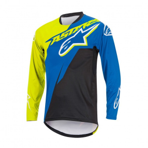 Alpinestars Maillot Manches Longues Alpinestars Sight Contender Bleu Royal/Jaune Acid 2017