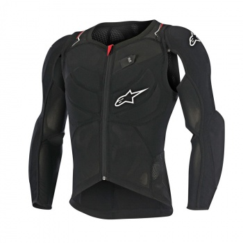 Veste de Protection Alpinestars Evolution LS Noir/Blanc/Rouge 2017