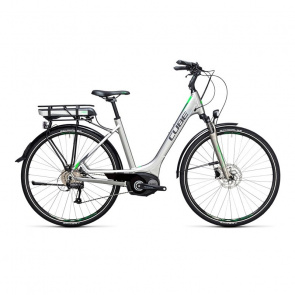 Cube Vélo Electrique Cube Touring Hybrid One 400 Easy Entry Argent/Vert 2017