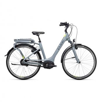 Vélo Electrique Cube Delhi Hybrid 400 Easy Entry Gris/Jaune 2017