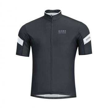 Maillot Manches Courtes Gore Bike Wear Power 3.0 Noir/Blanc 2017