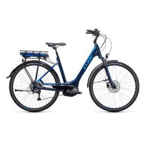 Cube Vélo Electrique Cube Touring Hybrid 400 Easy Entry Bleu 2017