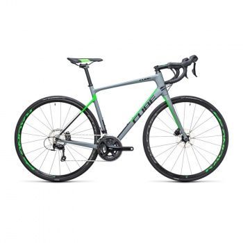 Vélo de Course Cube Attain GTC Pro Disc Gris/Vert Flash 2017
